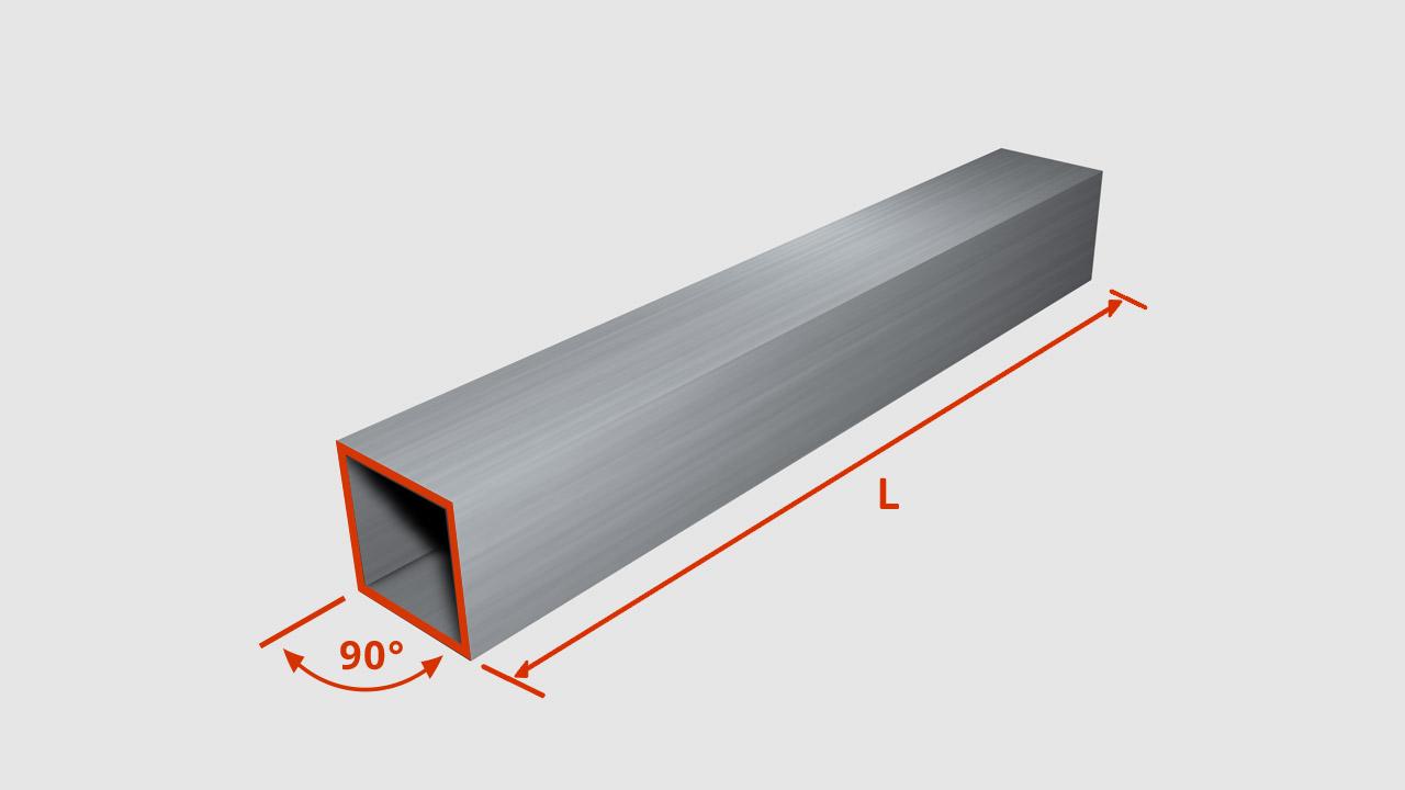 verz. vierkantstahlrohr 60 x 60 x 2,0