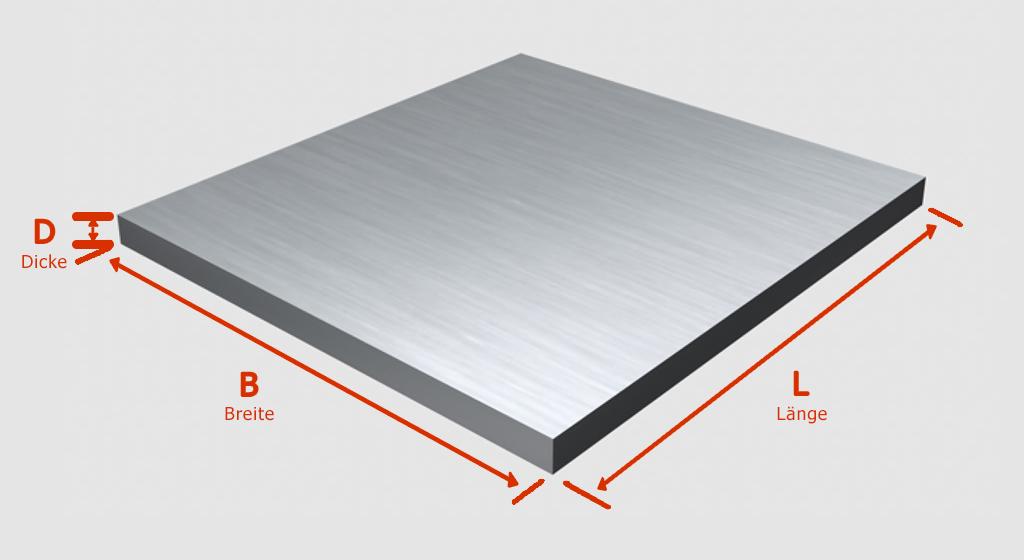 Flachstahl Bandstahl Flacheisen Stahl Eisen von 100 bis 3000mm 55x10 mm